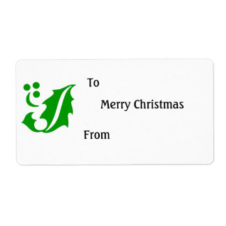 Christmas Gift Label Shipping Label