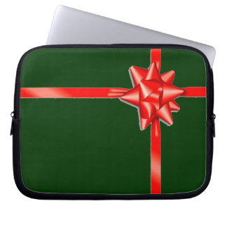 Christmas Gift Red Bow Laptop Case Computer Sleeve