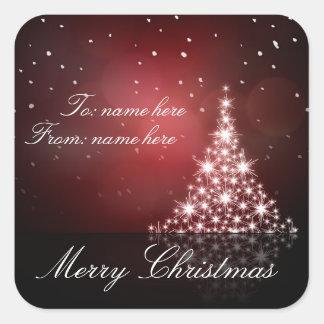 Christmas gift sticker
