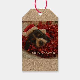 Christmas gift tag Basset hound