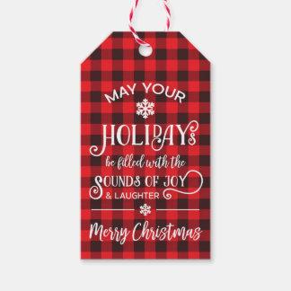 Christmas Gift Tag, Buffalo Plaid Gift Tags
