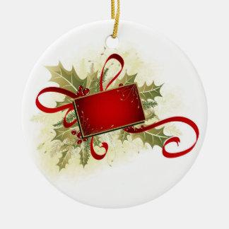 Christmas Gift Tag Christmas Ornament