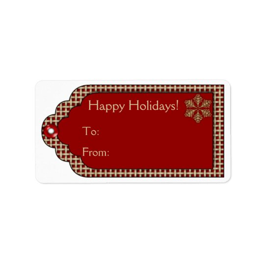 Christmas Gift Tag Labels