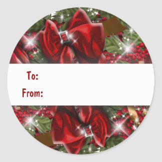 Christmas gift tag present stickers