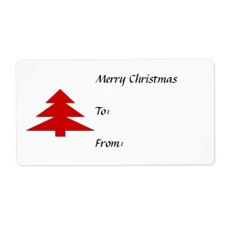 Christmas Gift Tags Shipping Label