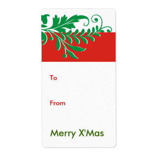 Christmas Gift Tags Label Shipping Label