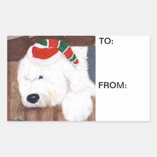 Christmas Gift Tags - Old English Sheepdog