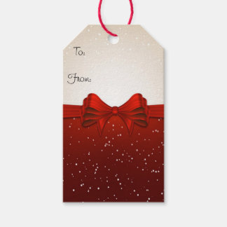 Christmas Gift Tags/Red Ribbon