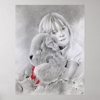 Christmas Gift Teddy Bear Poster