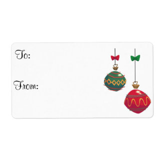 Christmas Gift to/from Tags Shipping Label
