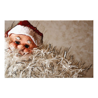 Christmas gift with Santa Claus Personalised Stationery