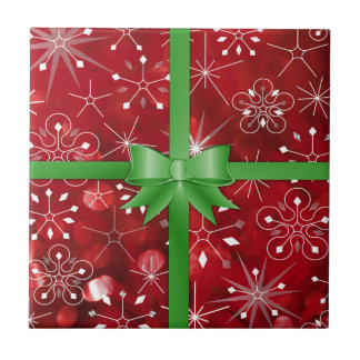 Christmas Gift Wrap Tile