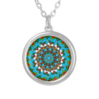 Christmas gifts cute pudding,festive gift silver plated necklace