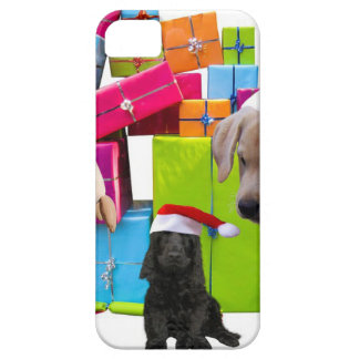 Christmas Gifts Dogs Christmas Dog Santa Hat Cap iPhone 5 Cases