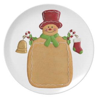 Christmas Ginger Bread Man Plate