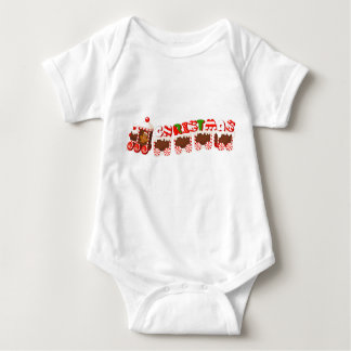 Christmas Ginger Bread Train Baby Bodysuit