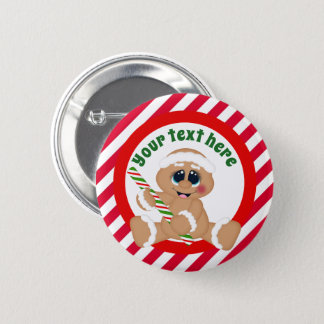 Christmas Gingerbread add text button