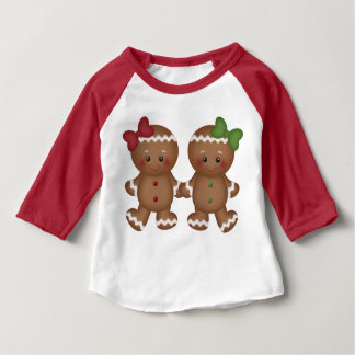 Christmas Gingerbread baby girl's t-shirt