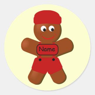 Christmas Gingerbread Boy Sticker