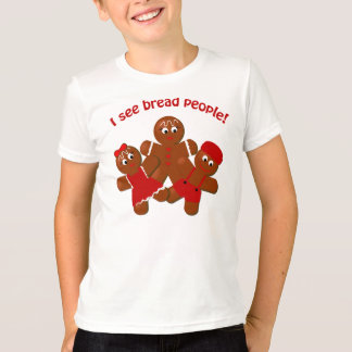 Christmas Gingerbread Bread People Funny T-shirt