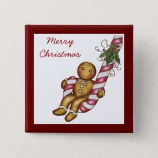 Christmas Gingerbread Button