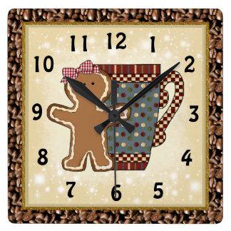 Christmas Gingerbread coffee clock