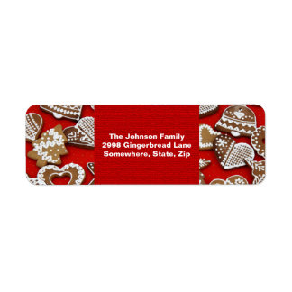 Christmas Gingerbread Cookies Address Label