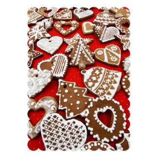 Christmas Gingerbread Cookies Flat Card 13 Cm X 18 Cm Invitation Card
