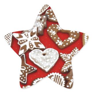 Christmas Gingerbread Cookies Star Sticker