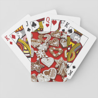 Christmas Gingerbread Cookies - Stars Hearts Playing Cards