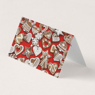 Christmas Gingerbread Cookies Tent Fold Cards