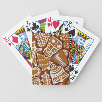 Christmas Gingerbread Holiday Cookies Bicycle Playing Cards