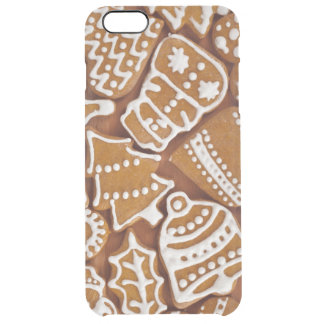 Christmas Gingerbread Holiday Cookies Clear iPhone 6 Plus Case