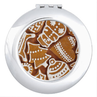 Christmas Gingerbread Holiday Cookies Makeup Mirror