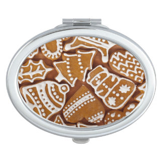 Christmas Gingerbread Holiday Cookies Makeup Mirrors
