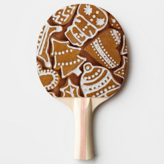 Christmas Gingerbread Holiday Cookies Ping Pong Paddle