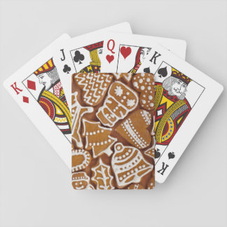 Christmas Gingerbread Holiday Cookies Playing Cards
