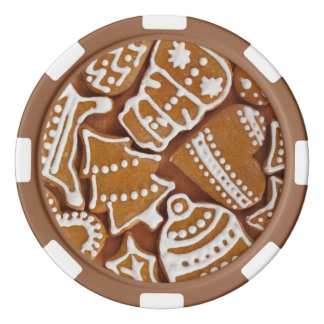 Christmas Gingerbread Holiday Cookies Poker Chips