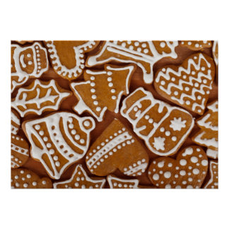 Christmas Gingerbread Holiday Cookies Poster