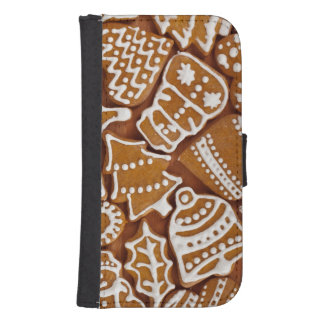Christmas Gingerbread Holiday Cookies Samsung S4 Wallet Case