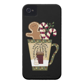 Christmas Gingerbread Holiday Greetings iPhone 4 Cover