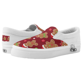 Christmas Gingerbread Holiday pattern shoes