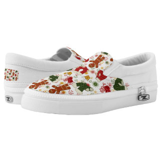 Christmas gingerbread Holiday pattern womens shoes