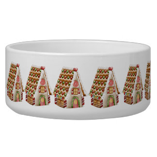 Christmas Gingerbread House Pet Water Bowls