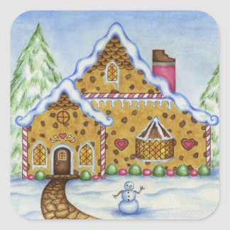 Christmas Gingerbread House Sticker