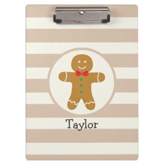Christmas Gingerbread Man Clipboard
