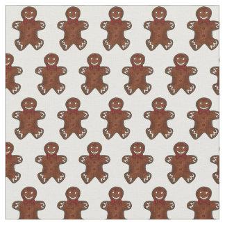 Christmas Gingerbread Man Men Cookie Xmas Fabric