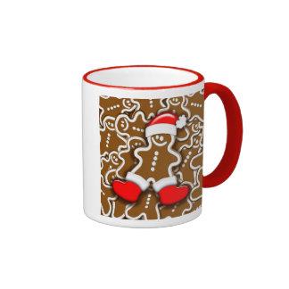 Christmas Gingerbread Santa Claus Mug