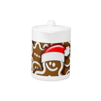 Christmas Gingerbread Santa Claus Teapot