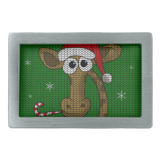 Christmas Giraffe Belt Buckle